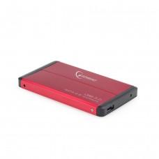"""Obudowa na dysk GEMBIRD EE2-U3S-2-R (2.5""""; USB 3.0; Aluminium; kolor czerwony)"""